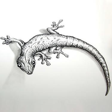 Realistic Gecko Tattoo