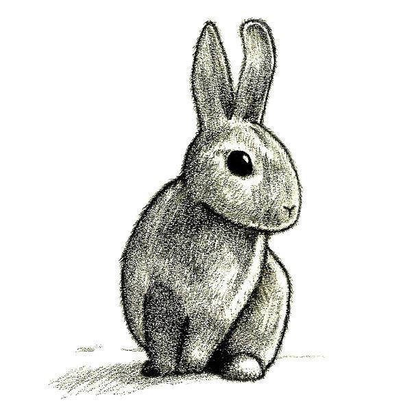 Simple Rabbit Tattoo Design