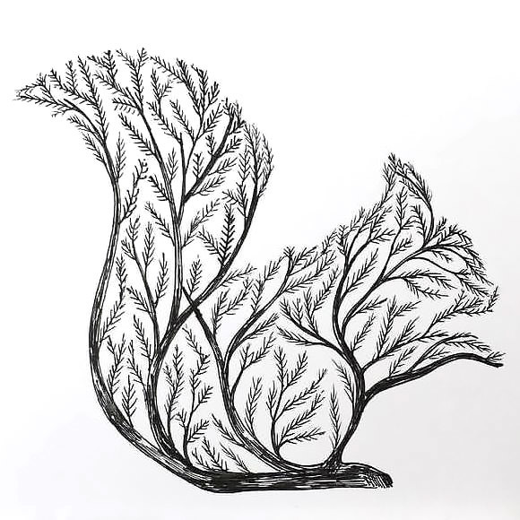 Squirrel Tree Tattoo Design