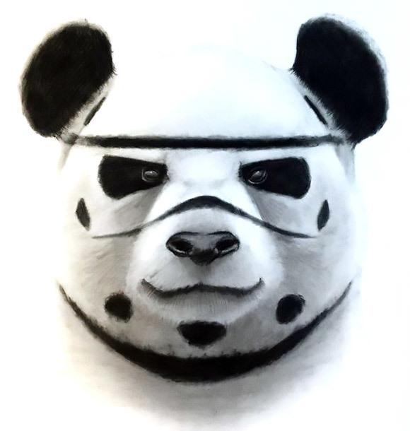 Super Panda Tattoo Design