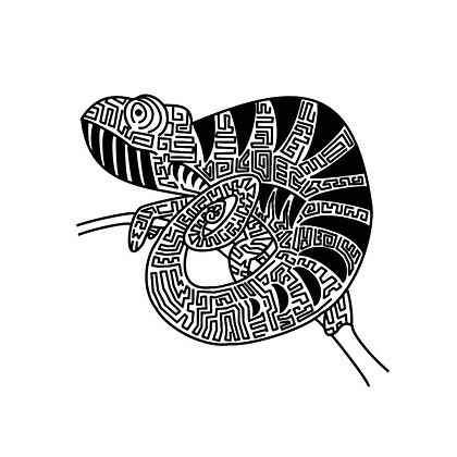 Tribal Chameleon Tattoo Design