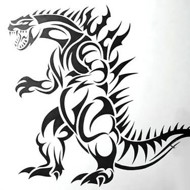 Tribal Dinosaur Tattoo