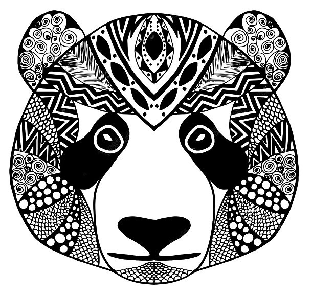 Tribal Panda Tattoo Design