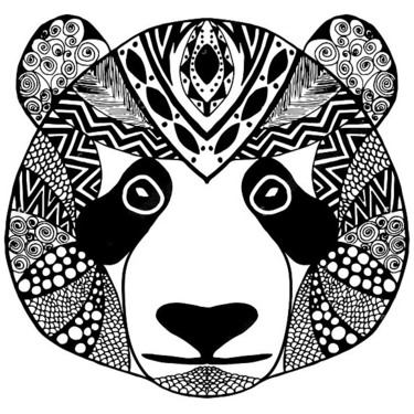 Tribal Panda Tattoo