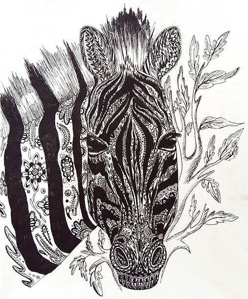 Unique Zebra Tattoo Design