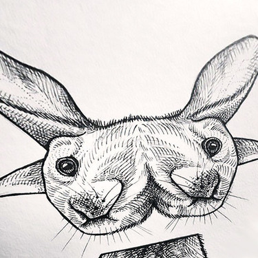 Weird Rabbit Tattoo