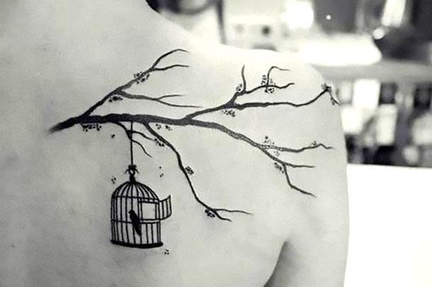 Bird In Birdcage Tattoo Idea