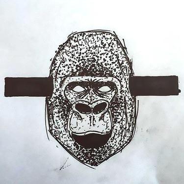 Crazy Gorilla Head Tattoo