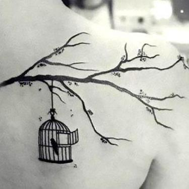 Bird In Birdcage Tattoo
