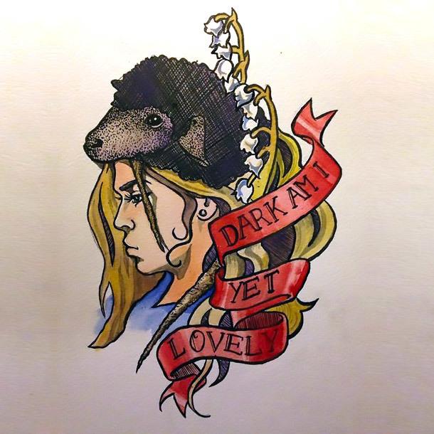 Dark Am I Yet Lovely Tattoo Design