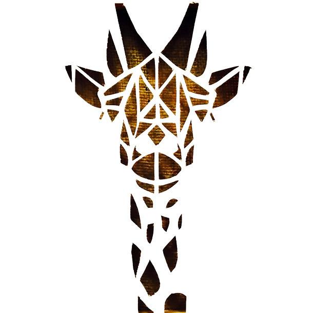 Geometric Giraffe Tattoo Design