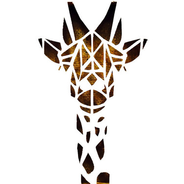 Geometric Giraffe Tattoo