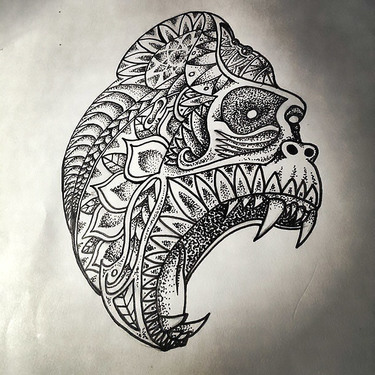 Gorilla Tattoo Art Tattoo