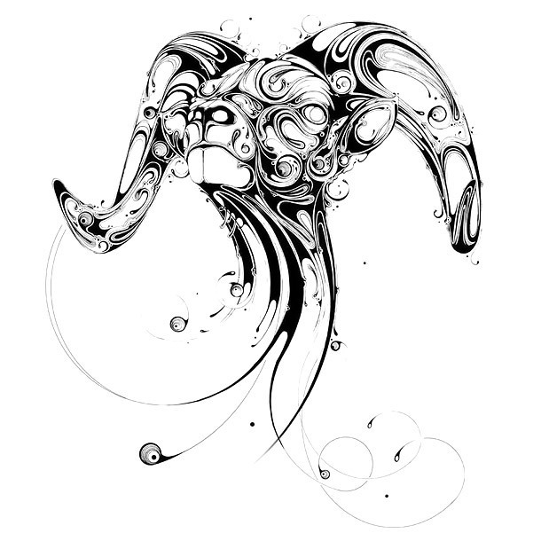 Intricate Sheep Tattoo Design
