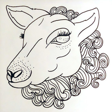 Lovely Sheep Tattoo