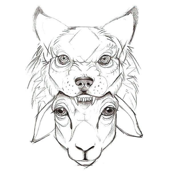 Sheep In Wolf Cape Tattoo Design