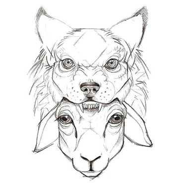 Sheep In Wolf Cape Tattoo