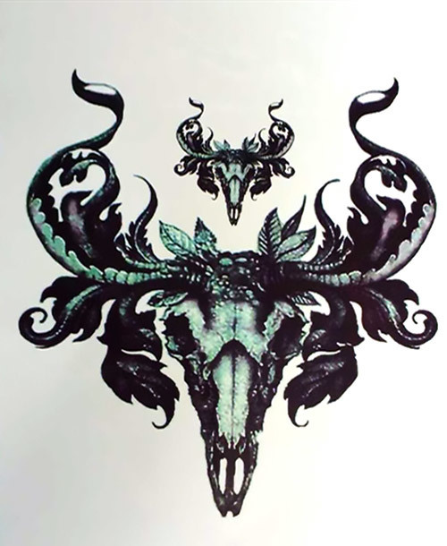 Sheep Skull Tattoo Design
