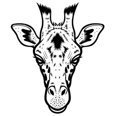 Simple Giraffe Head Tattoo