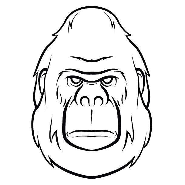 Simple Gorilla Face Tattoo Design