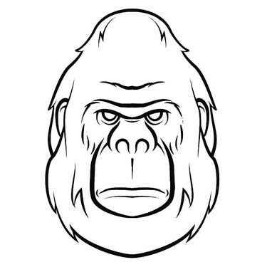 Simple Gorilla Face Tattoo