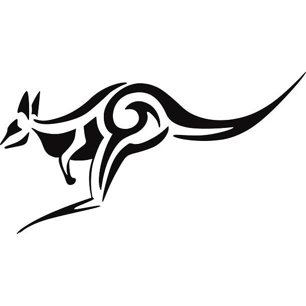 Simple Kangaroo Tattoo Design