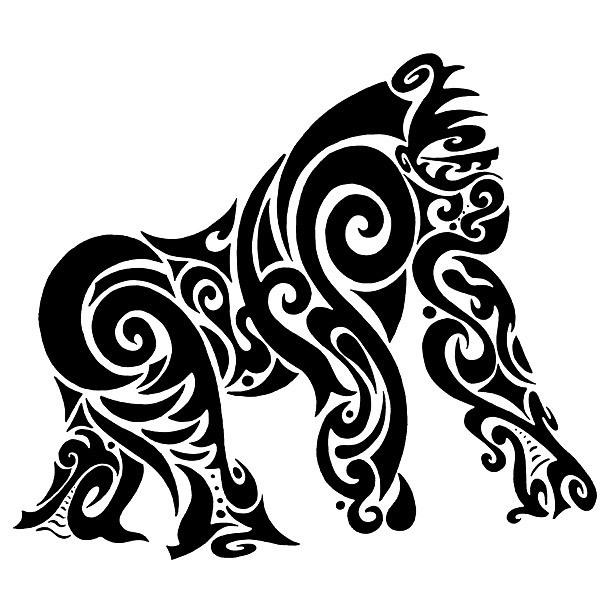 Tribal Gorilla Tattoo Design