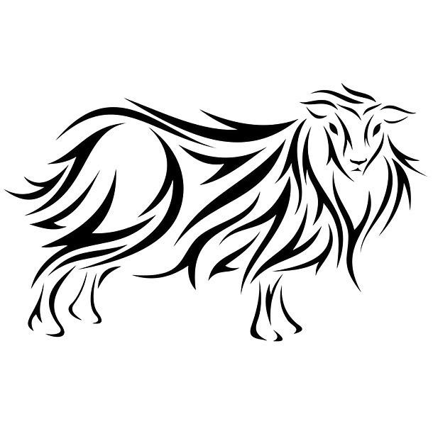 Tribal Sheep Tattoo Design