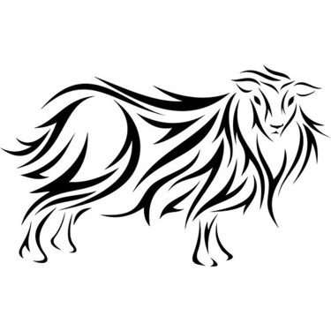 Tribal Sheep Tattoo