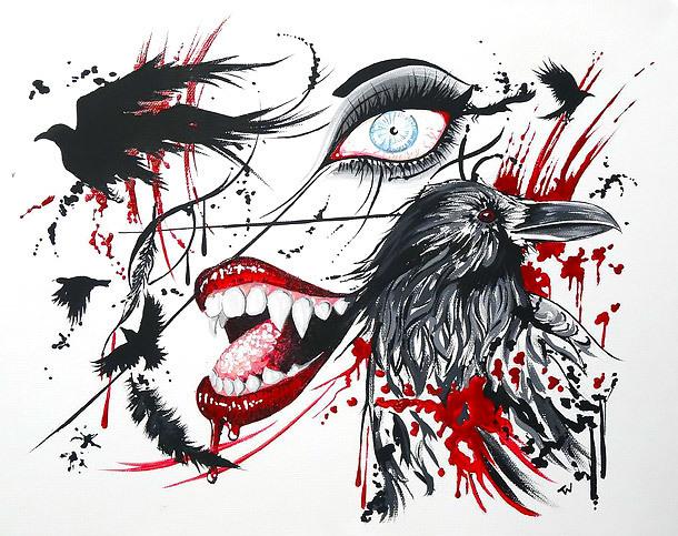 Crazy Tash Polka Tattoo Design