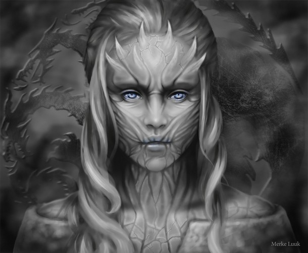 Daenerys Targaryen The Queen of Whitewalkers Tattoo Design