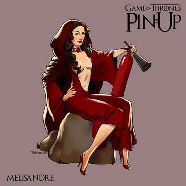 Melisandre Pin Up Tattoo