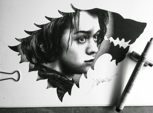 Arya Stark Tattoo Design