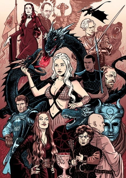 Game of Thrones Characters Tattoo Design