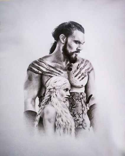 Daenerys and Khal Drogo Tattoo Design