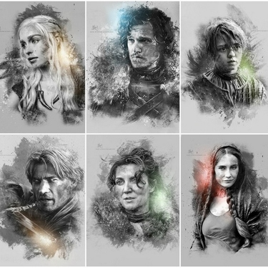 Game of Thrones Characters Portraits Tattoo
