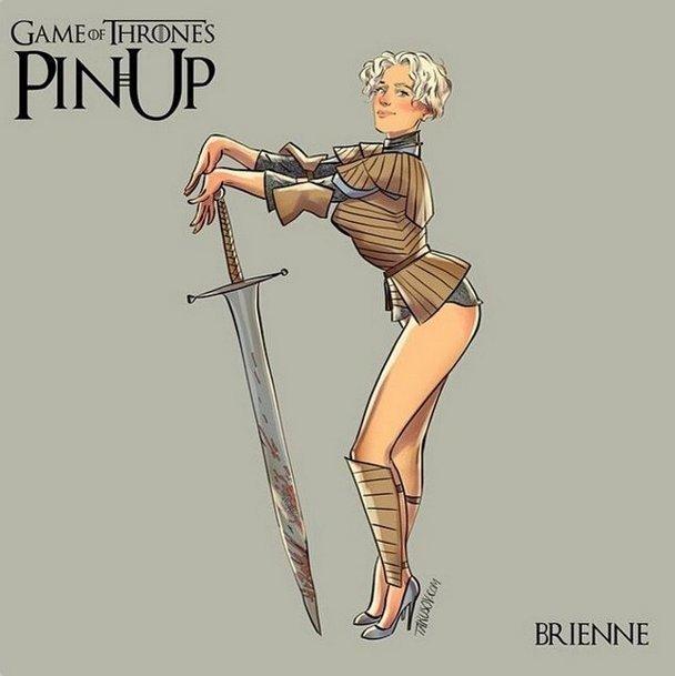 Brienne Pin Up Tattoo Design
