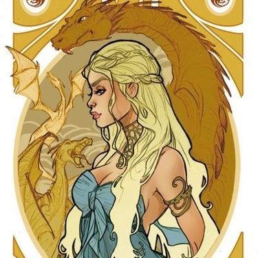 Gorgeous Golden Daenerys Tattoo