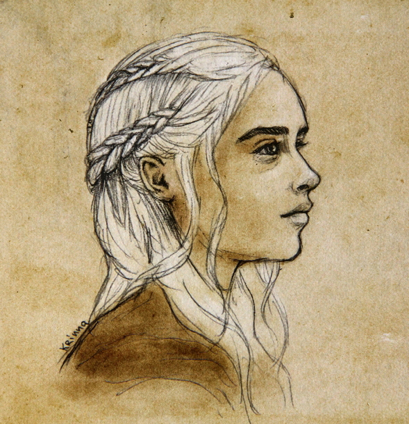 Daenerys Drawing Tattoo Design