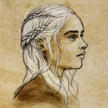 Daenerys Drawing Tattoo