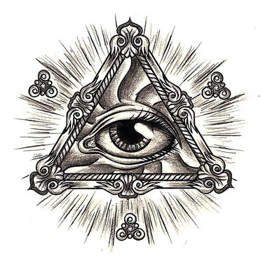 All Seeing Eye In Triangle Tattoo