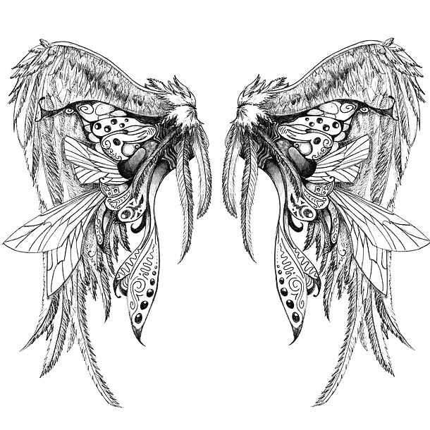Amazing Wings Tattoo Design