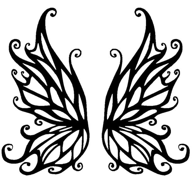Angel of Death Wings Tattoo Design