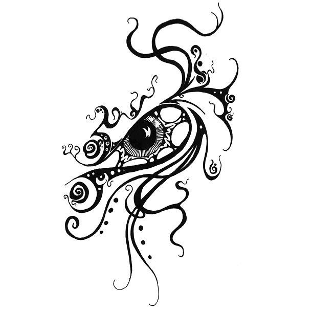 Angry Eye Tattoo Design