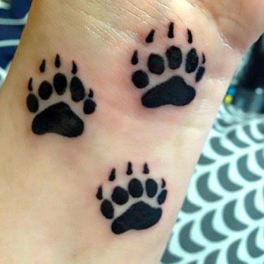 Bear Paw Prints Tattoo