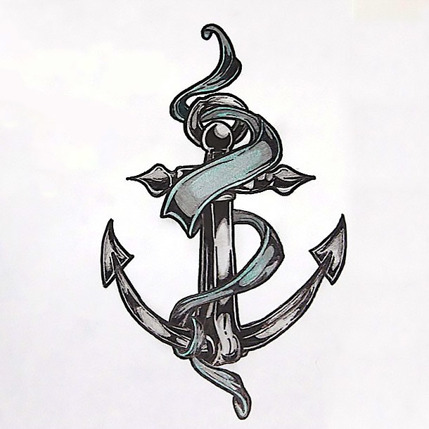 Beautiful Anchor Tattoo Design