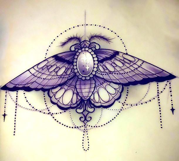 Best Moth Tattoo Design