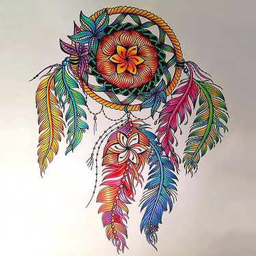 Colorful Dreamcatcher Tattoo