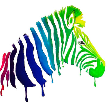 Colorful Zebra Tattoo
