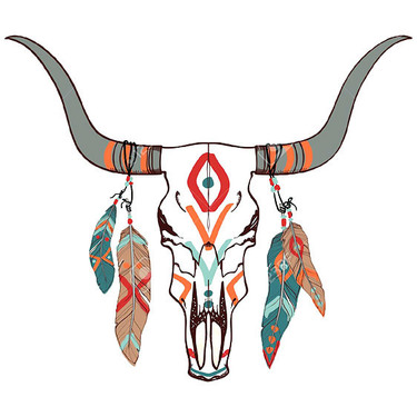 Cool Bull Skull Tattoo